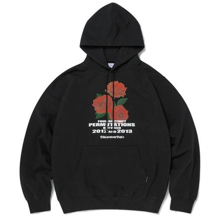 ThisIsNeverThat Rose Hooded Sweatshirt - Black