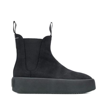Mm6 Maison Margiela Chelsea Nubuck Ankle Boots - Black