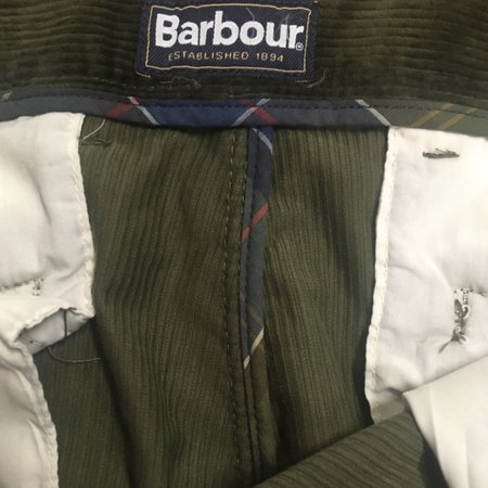 Barbour Corduroy Regular Chino - Forest