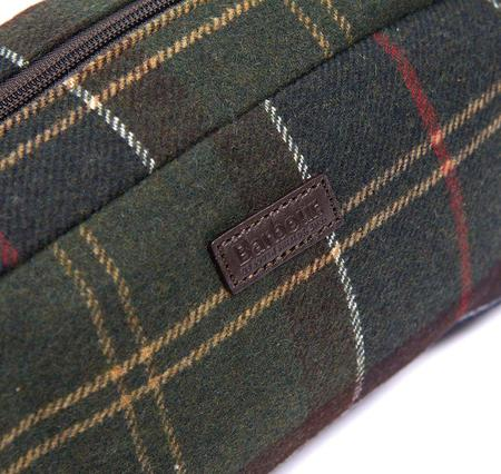 Barbour Tartan Wool Wash Bag - Classic Check