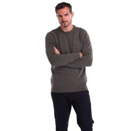 Barbour Tisbury Crew Neck Wool Sweater - Fog
