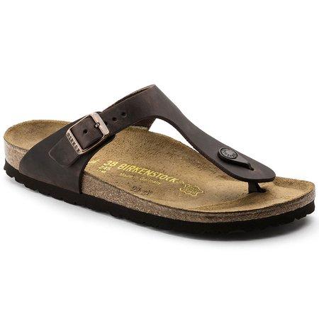 Birkenstock Gizeh Oiled Leather Sandals - Habana