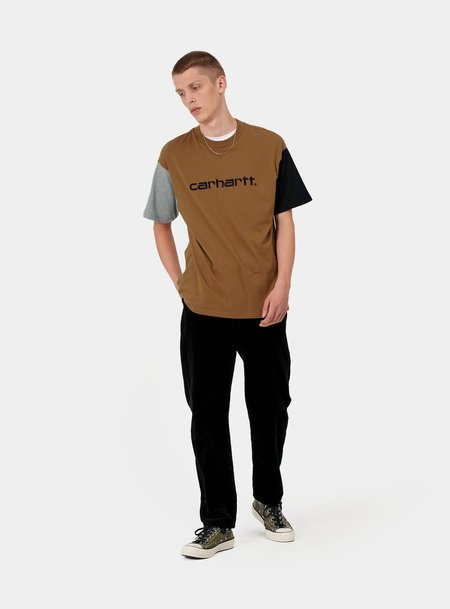Carhartt WIP S/S Carhartt Tricol T-Shirt - Brown/Black/Grey
