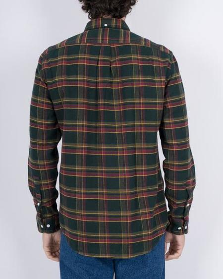 Portuguese Flannel Billard Check Shirt - Green/purple/Yellow