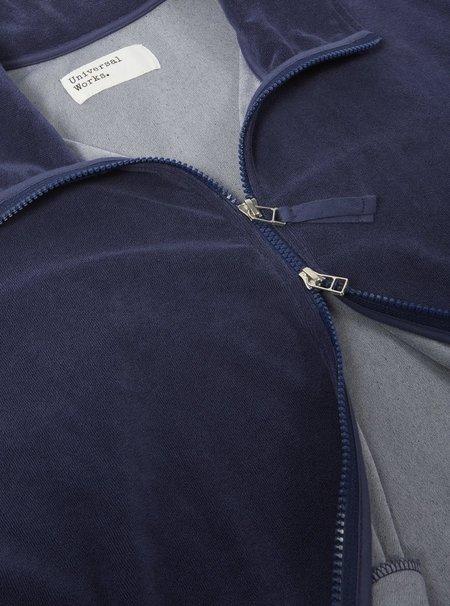 Universal Works Terry Fleece Beach Zip Through Jacket - Navy
