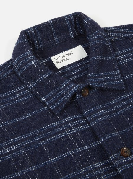 Universal Works Uniform Jacket - Indigo Check