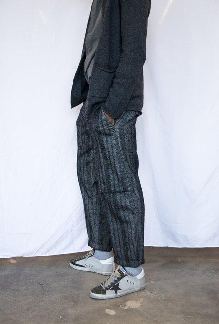 Transit Wide Leg Wool Railroad Trousers - Black
