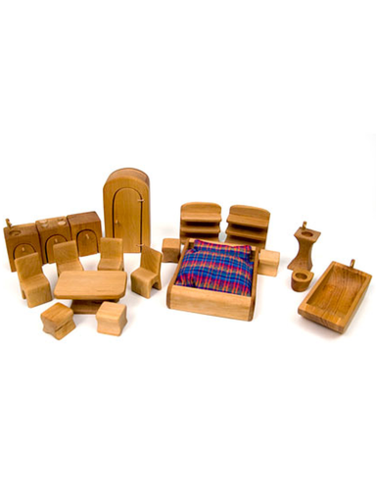 Norbert Verneuer Wooden Dollhouse Furniture Set 19 Pieces Norman Jules Garmentory