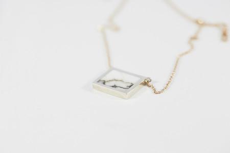 Legier Horizontal Stone Signet Pendant Necklace