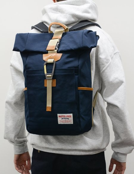 Master-Piece Link Roll Backpack - Navy Blue