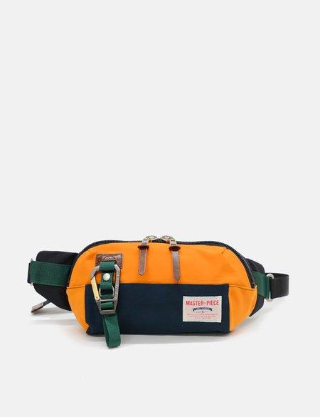 Master-Piece Link Waist Bag - Navy Blue/Orange