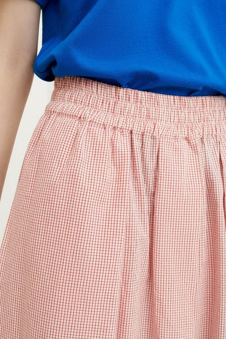 Kowtow Betty Culottes - Red Check