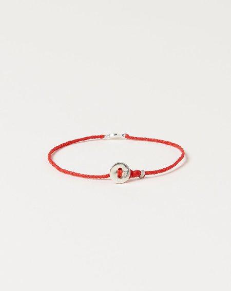 Scosha Tiny Evil Eye Bracelet - Silver