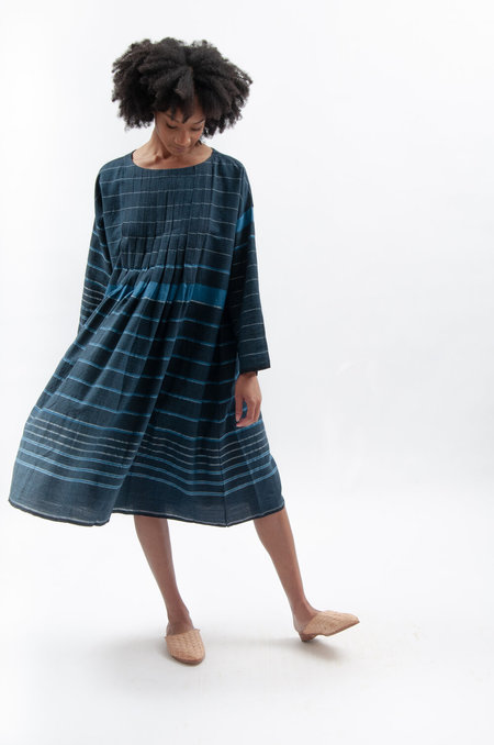 Maku Migalopa Dress - Black/Blue