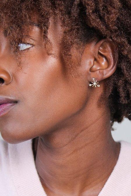 Xiao Wang Dot Dot Single Starburst Stud Earring