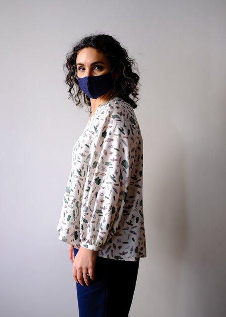 Christine Alcalay Neck Silk Blouse - Barrettes