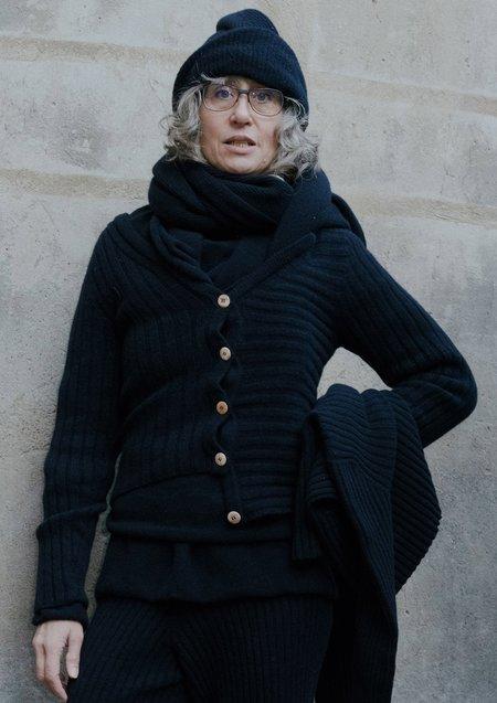 Baserange Nilo Merinos Wool Rib Cardigan