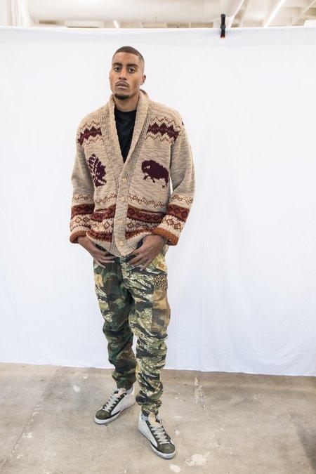 Altea Wool Intarsia Cardigan