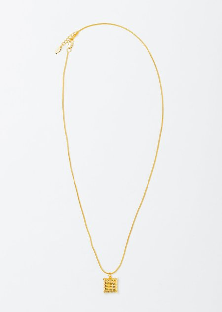 DEPARTMENT Gold Square Necklace - Gold