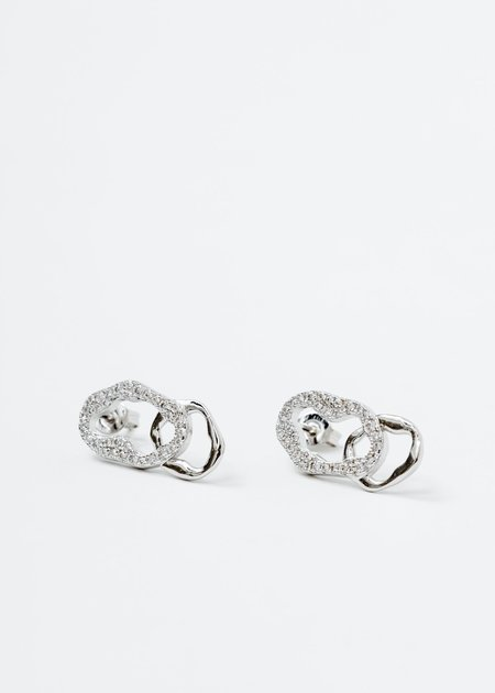 DEPARTMENT Cell Division A Earring - White Gold