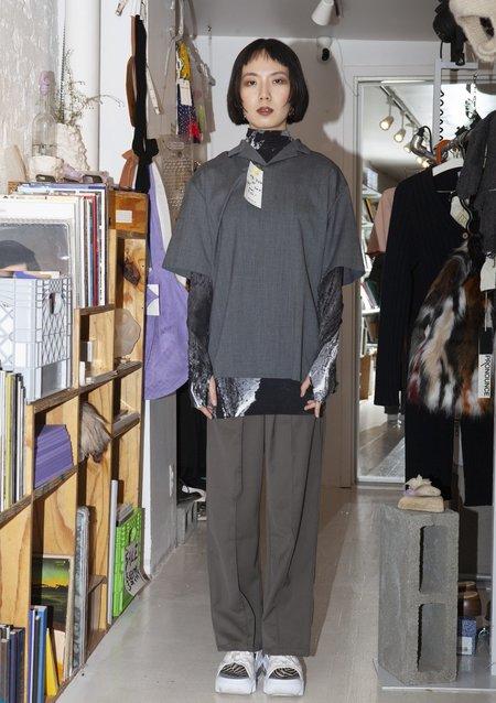 [pre-loved] Vintage Raised Seam Trousers - Dark Grey