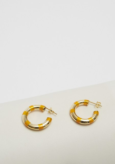 A. Carnevale Striped Hoops - Orange