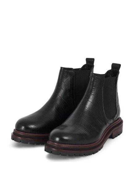 Hudson Wisty Croc Boot - Black