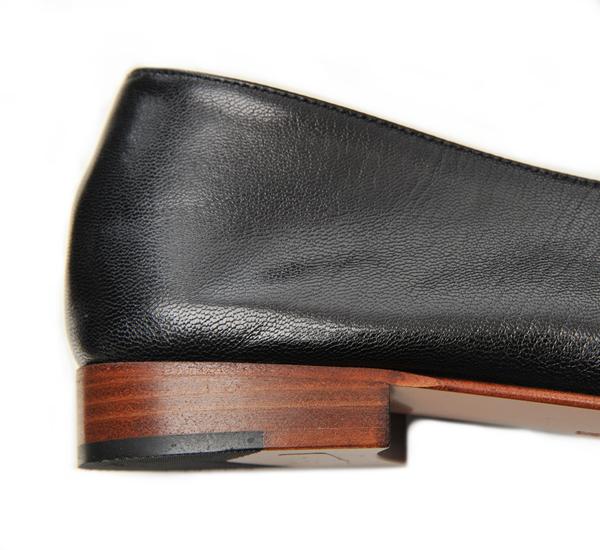 Martiniano Black Kid Glove Shoe