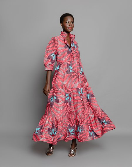 The OULA Company MIDI DRESS - HOT PINK FLORAL