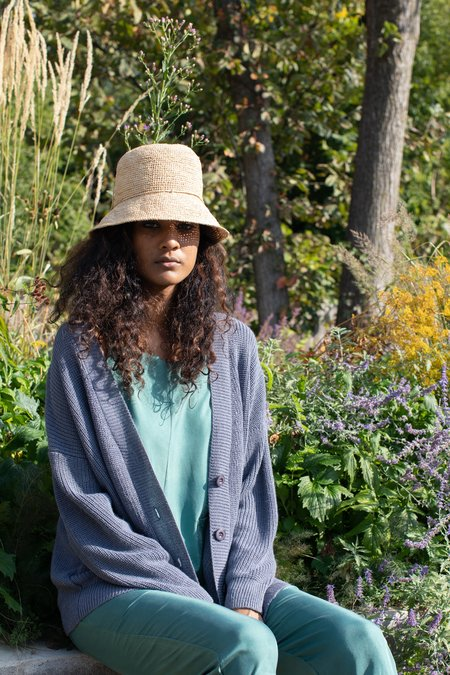 COLORANT RAFFIA BUCKET HAT - NATURAL