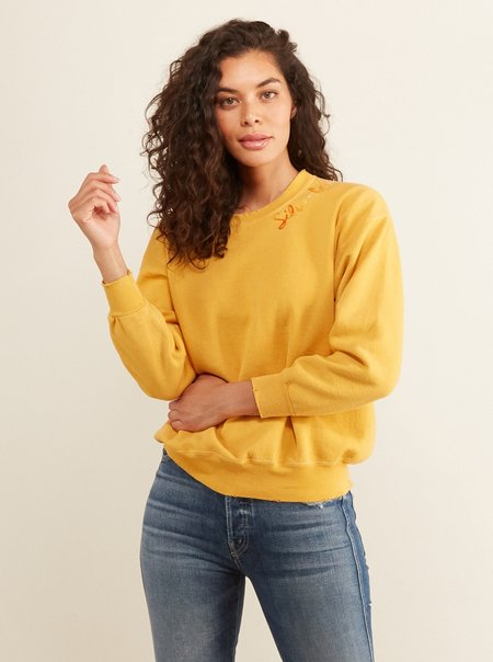 I Stole My Boyfriend's Shirt: Silver Lake Sweatshirt - Mustard