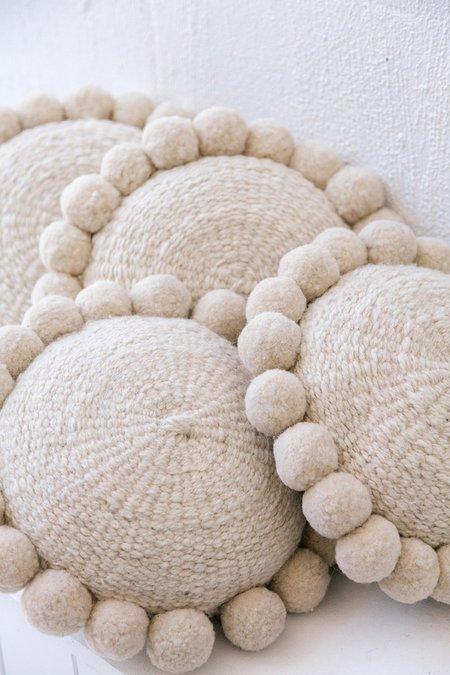Pampa Mini Monte Pom Pom Cushion #1 - Natural