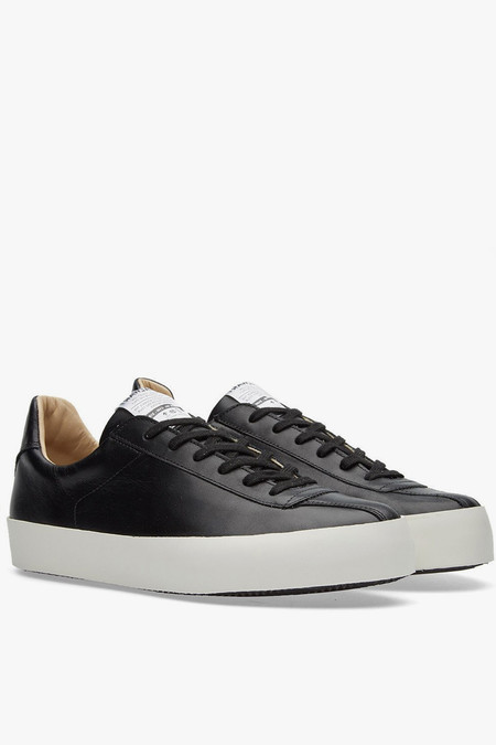Spalwart Nappa Leather Court Low Sneaker - Black