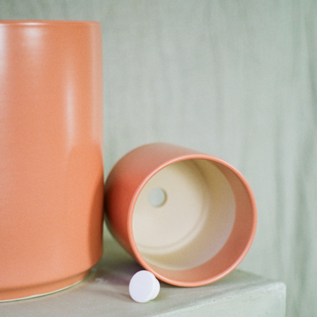 Rook & Rose 10 Peach & Pebble Pot - Peach