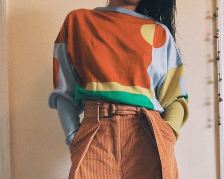 Petit Mioche Organic Merino Wool Sweater - Color Block