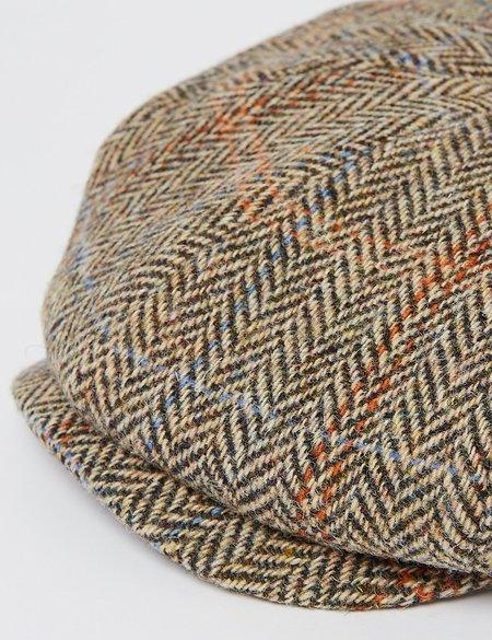 Stetson Hats Hereford Harris Tweed Newsboy Cap - Brown