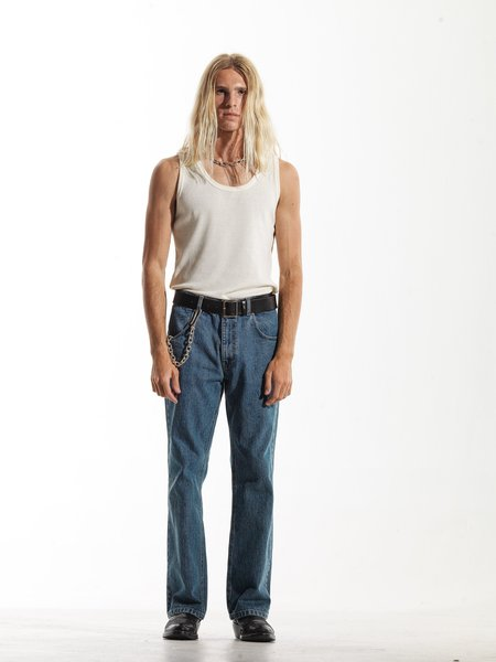 SECOND/LAYER Type VI Rico Pant - Washed Blue