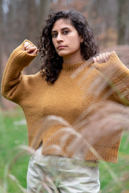 Daeza Panel Sweater - Curry