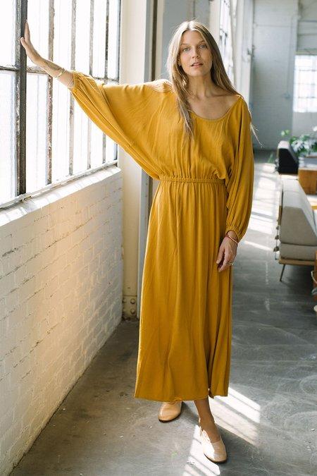 Rachel Pally Yaritza  Pucker Rayon Dress - Honey