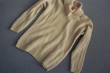 Horizons Vintage Chick angora sweater - yellow