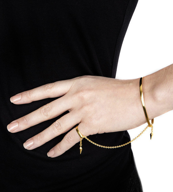 Maria Black 14K High Polished Philo Pinky Finger Bracelet