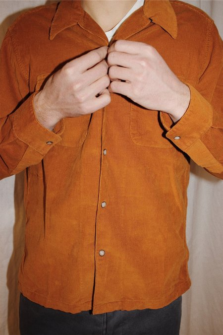 Corridor Pincord Workshirt W/ Snaps - Mustard