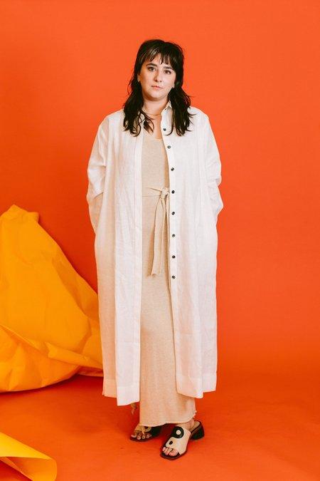 Megan Huntz lydia shirt dress - White