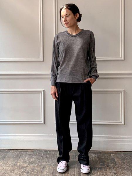 GASPARD SHOP Roberto Collina Cashmere and Silk Blend Crew Neck Sweater - Grey