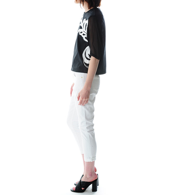 3.1 Phillip Lim Abstract Print Cropped Boxy T-Shirt