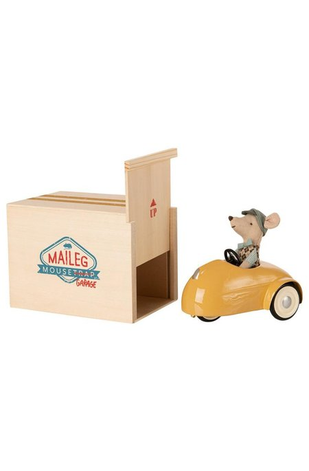 Kids Maileg Mouse With Car Garage