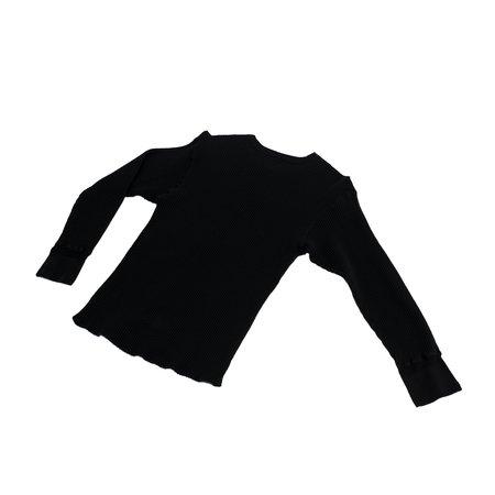 Homespun Knitwear Crew Thermal Bulky Waffle - Black