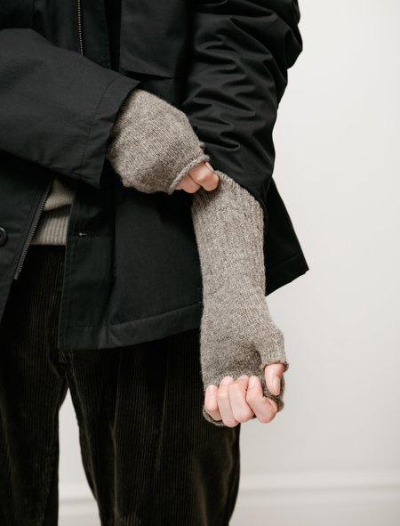 Margaret Howell MHL Felted  Shetland Fingerless Glove - Pebble