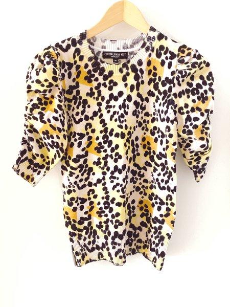 Central Park West Jade Sweater - Leopard Print