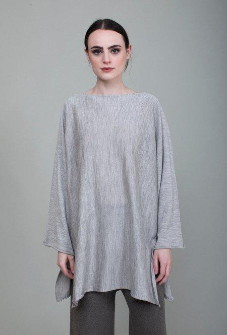 Lauren Manoogian Horizontal Tunic Sweater - Light Grey
